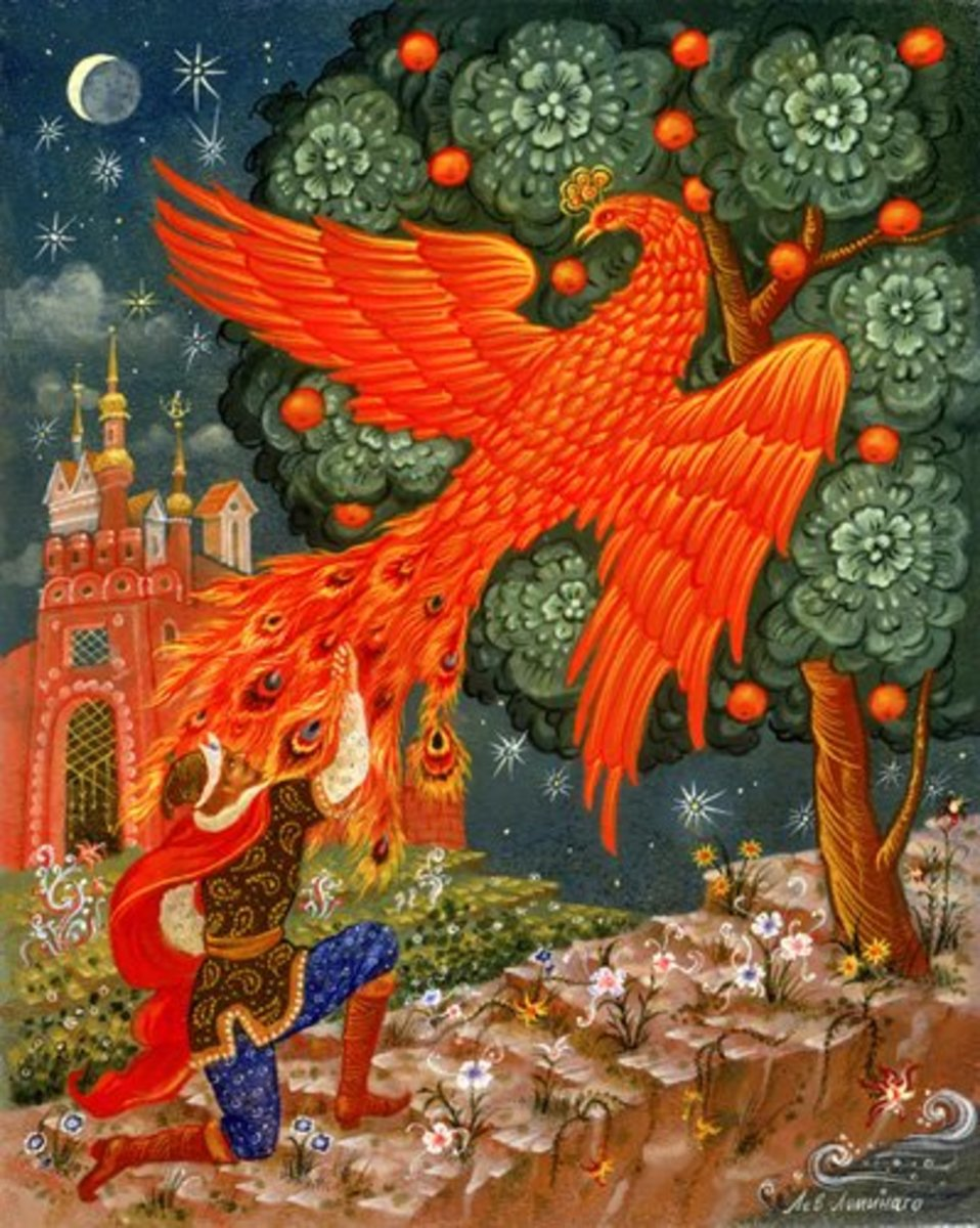 The Firebird escapes from Prince Ivan