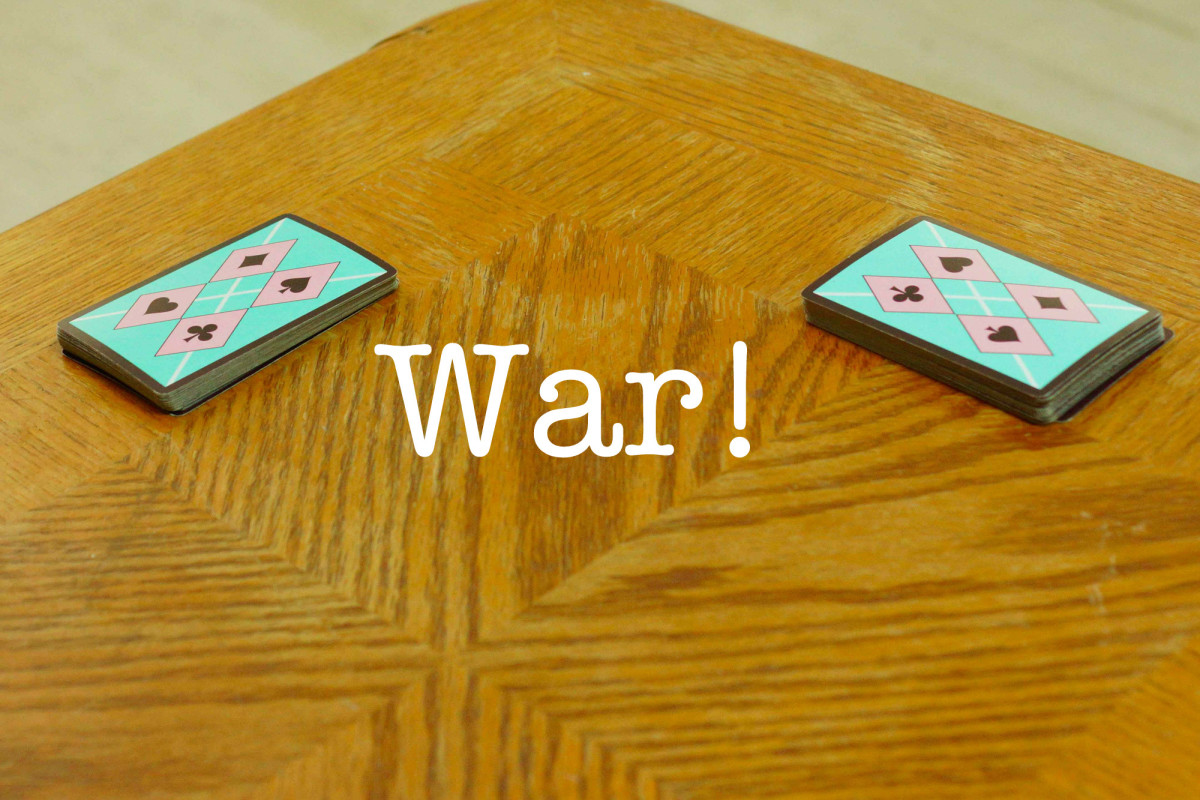 Your playing area. The deck is divided equally between both players.