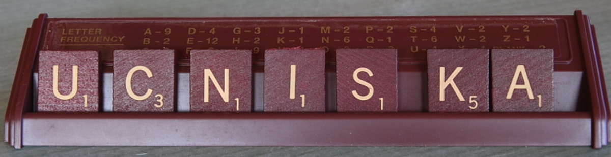 This is your Scrabble tray.