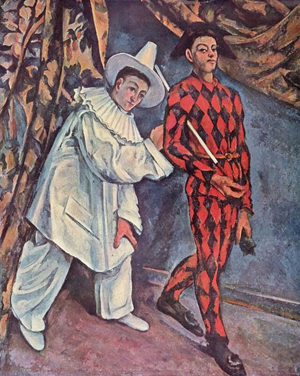 Paul Cezanne - Pierrot and Harlequin