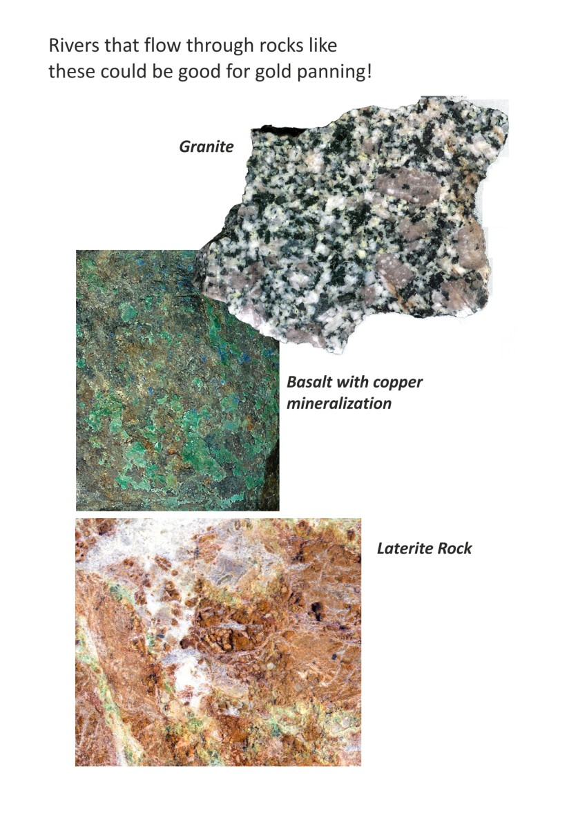 Some of the best streams for gold panning pass through rocks such as these.
