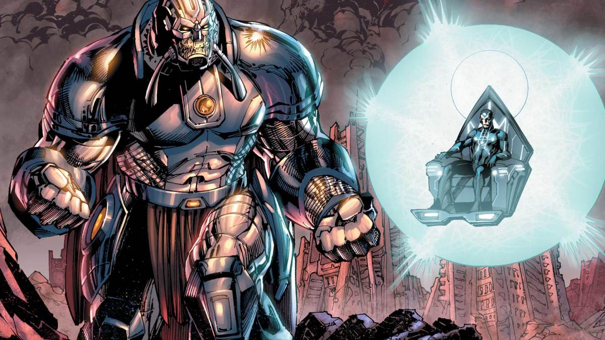 The Anti-monitor - Out to destroy the multiverse with Metron