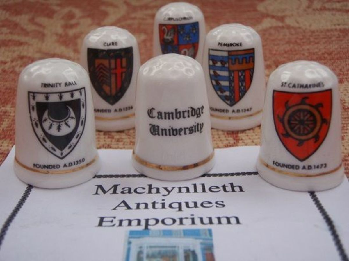 Cambridge Colleges Fenton Bone China Thimbles