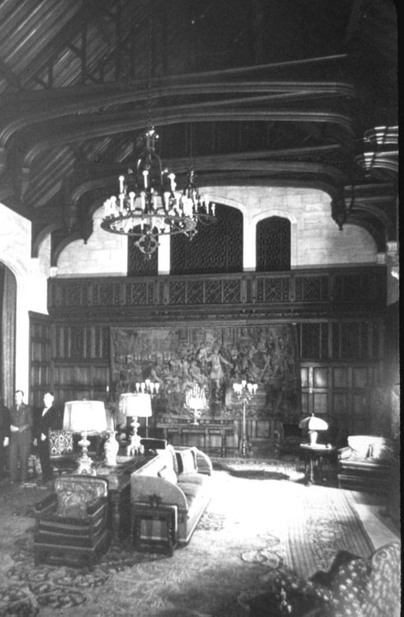 """The """"haunted"""" music room at the mansion of Asa Candler, Jr."""