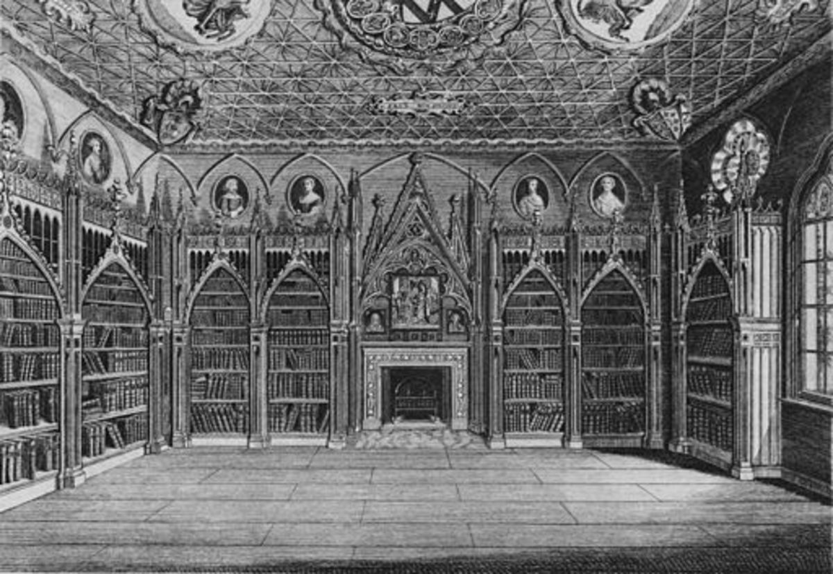 Engraving from Description of the Villa of Mr. Horace Walpole, Youngest Son of Sir Robert Walpole Earl of Orford, at Strawberry-Hill near Twickenham, Middlesex, with an Inventory of the Furniture, Pictures, Curiosities, &.c., 1784