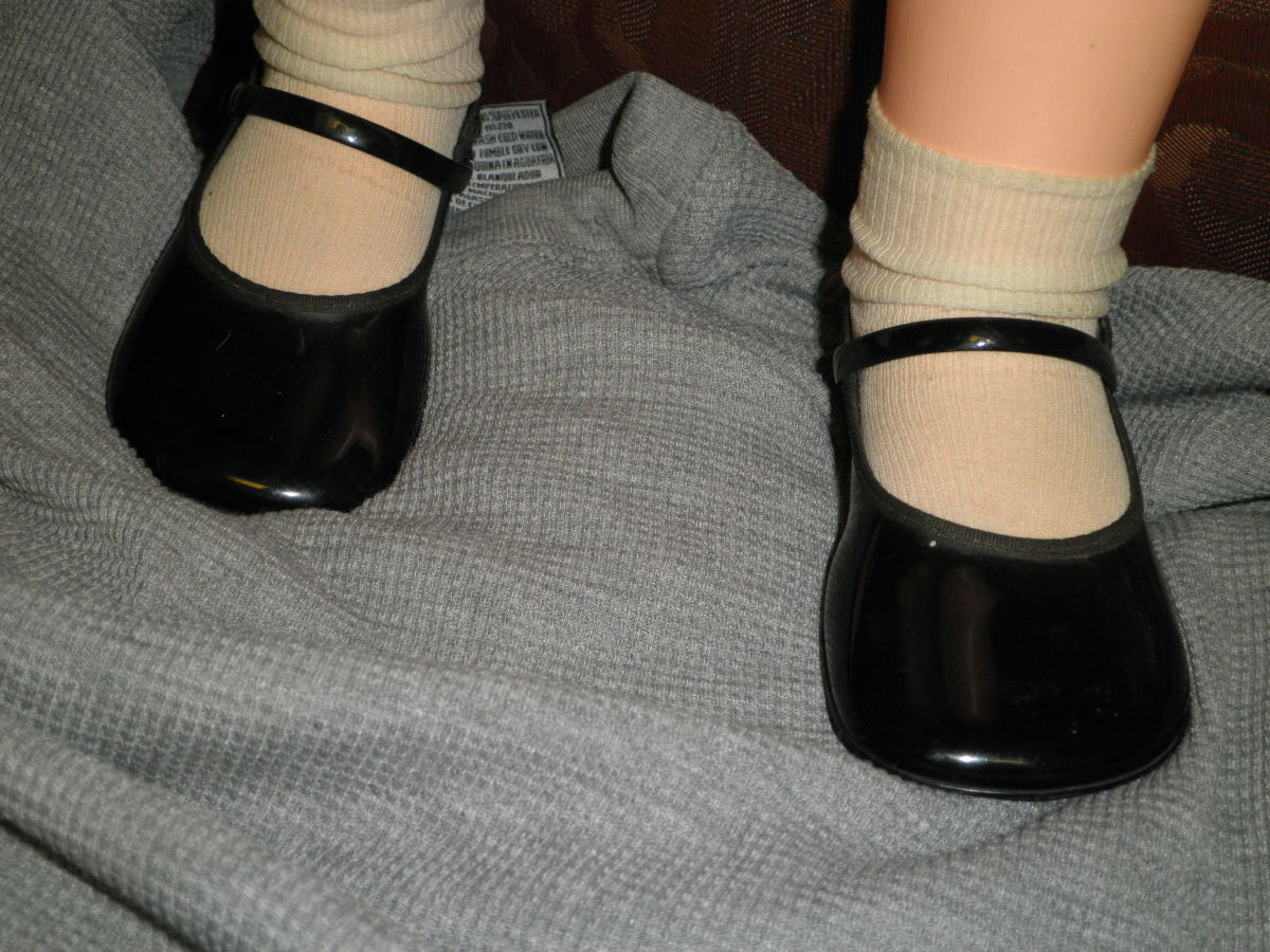 Patty Playpal original black patent leather shoes. These shoes sell for anywhere from $9.95 - $50.00 0n eBay.