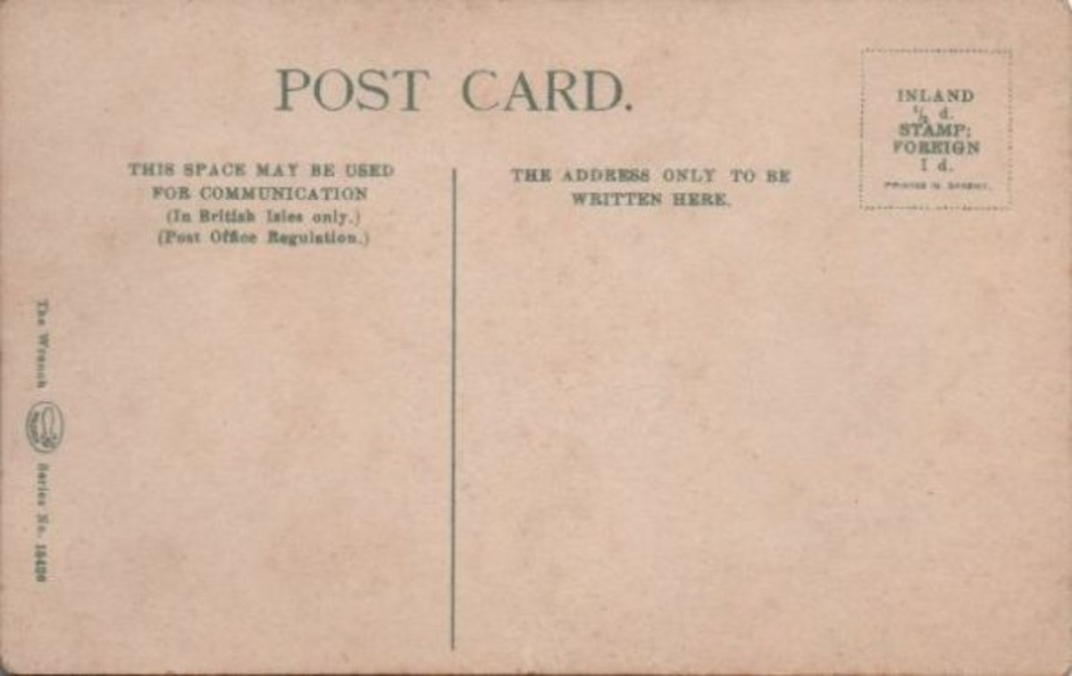 An early divided back card approximately 1902