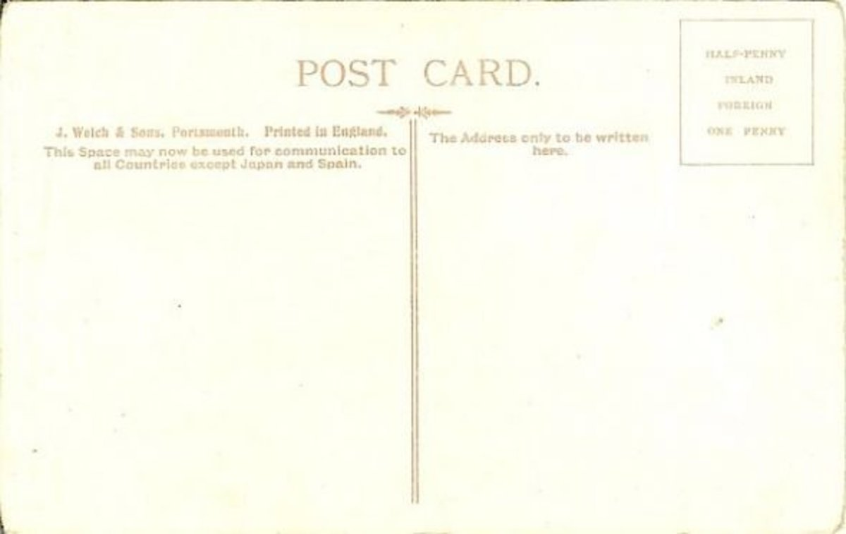 A later divided back postcard from 1907
