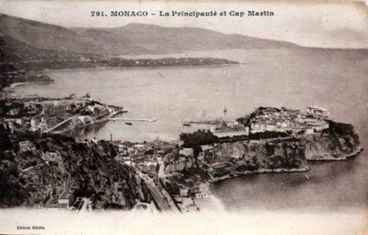 Early divided-back card from Monaco.