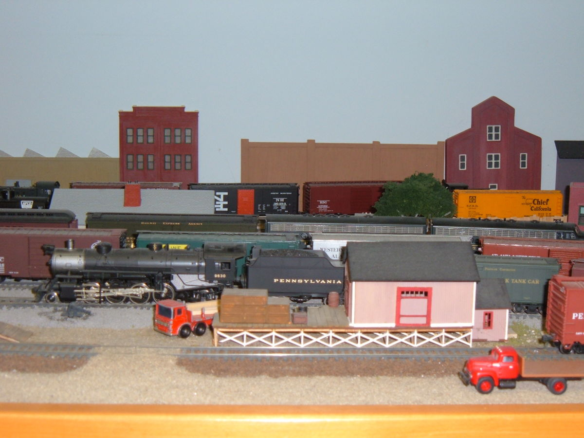 #9630 eases past the freight house and team track spur.