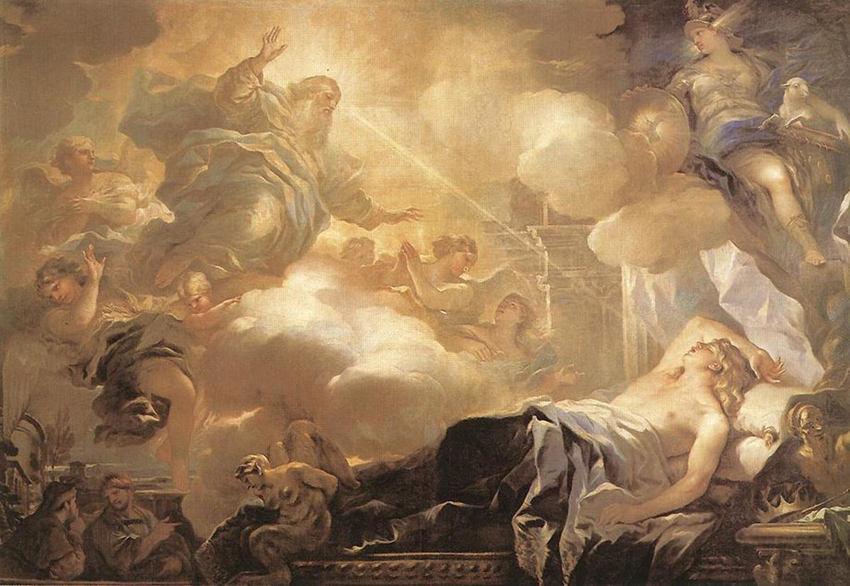 Dream of Solomon by Luca Giordano, circa 1693.