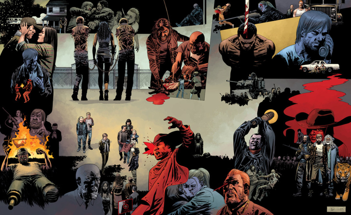 The Walking Dead #115 Connecting Covers