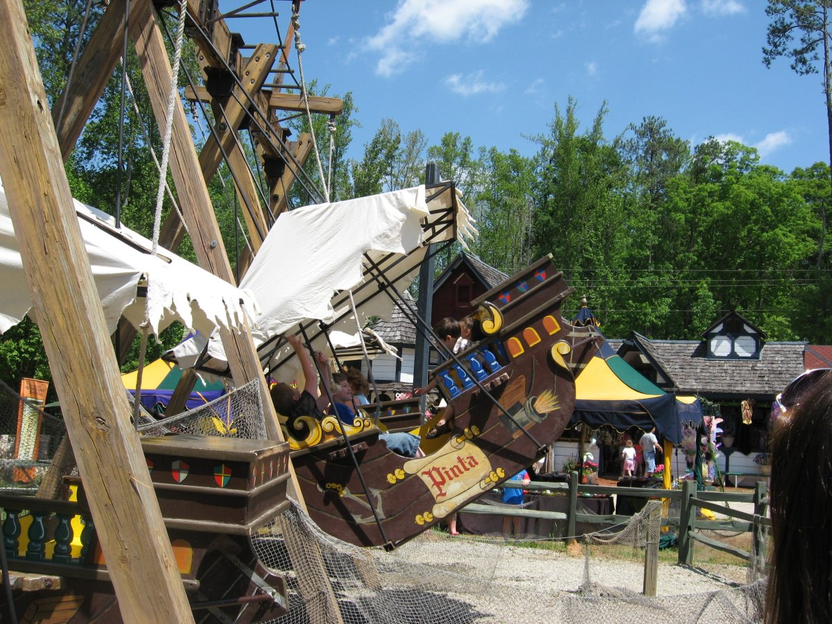 The flying galleons ride.