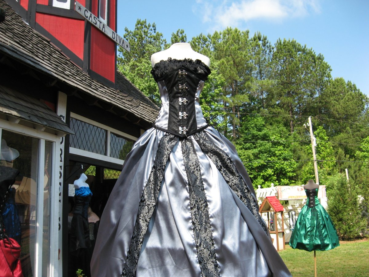 Renaissance dresses can often be found for sale at Renaissance fairs.