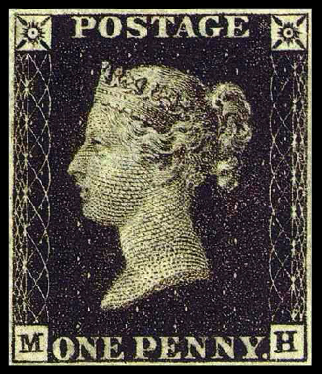 "The ""Penny Black,"" world's first postage stamp"