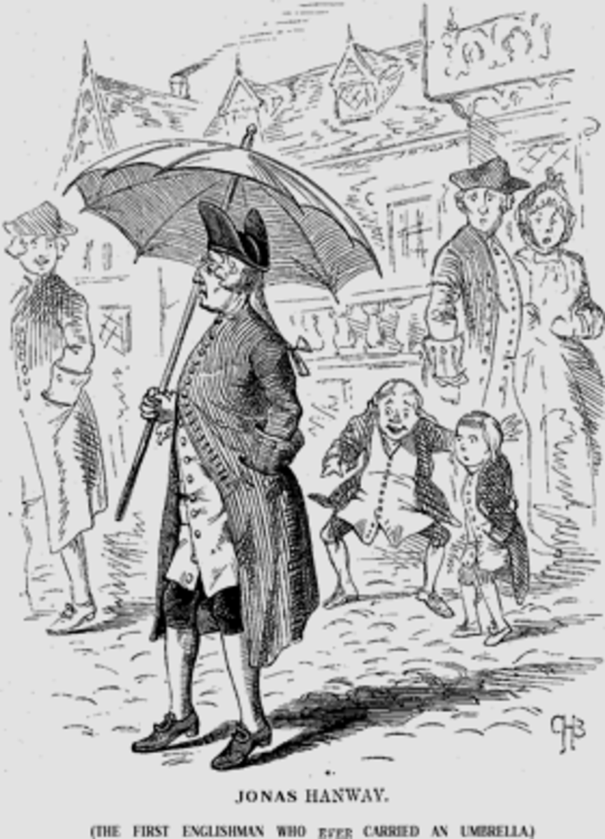 18th century Englishman who earned ridicule for importing the new continental fad, the umbrella.