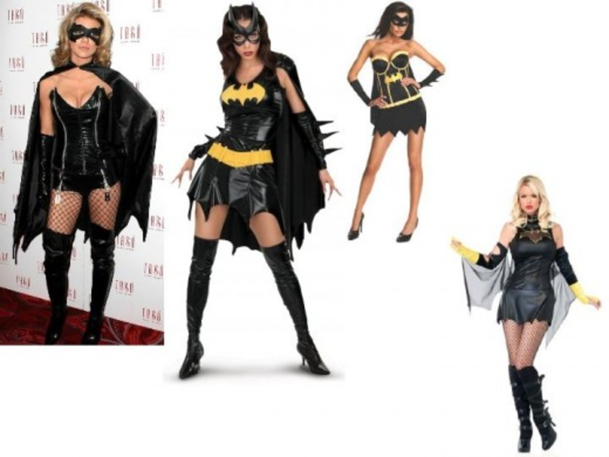 Mass Market Adult Batgirl Costumes for Halloween