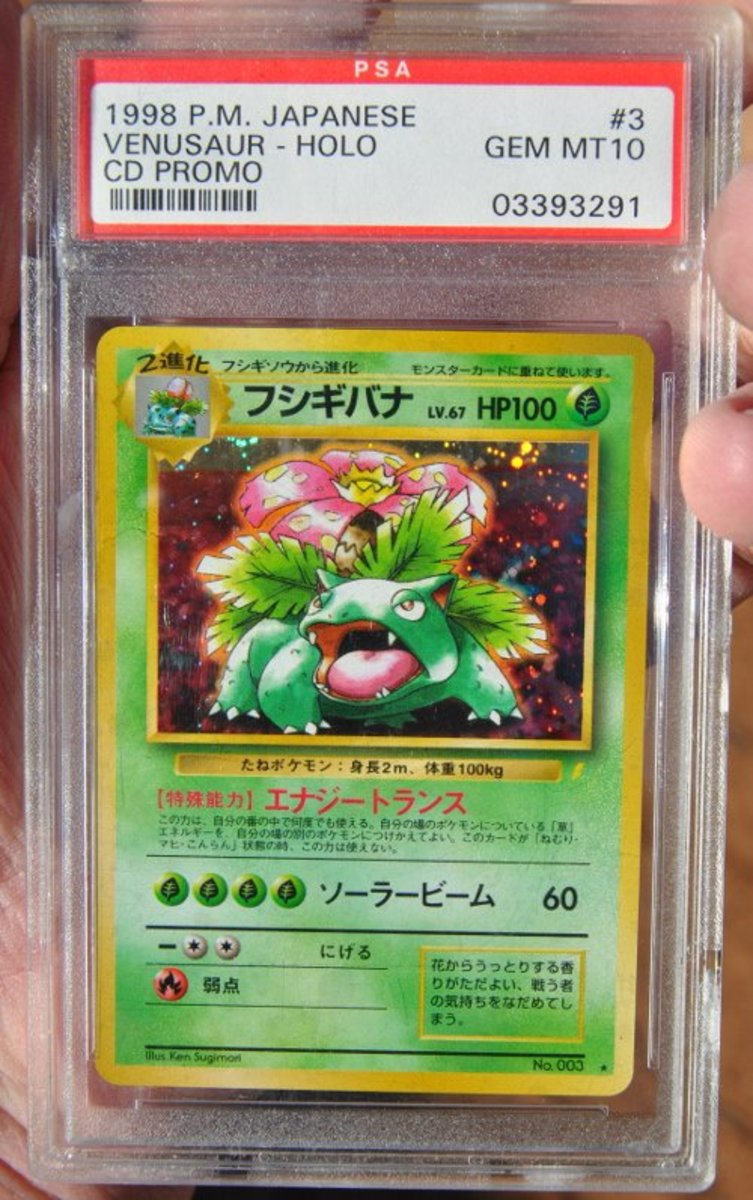Venusaur CD Promo PSA Mint 10