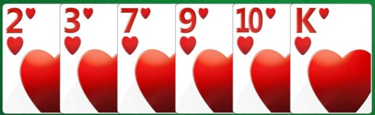 Hearts counted as points at the end of the hand in the card game of Hearts.