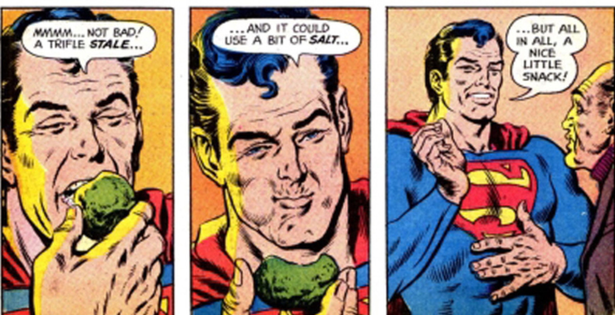 You know you're in trouble when Superman eats the kryptonite in front of you.