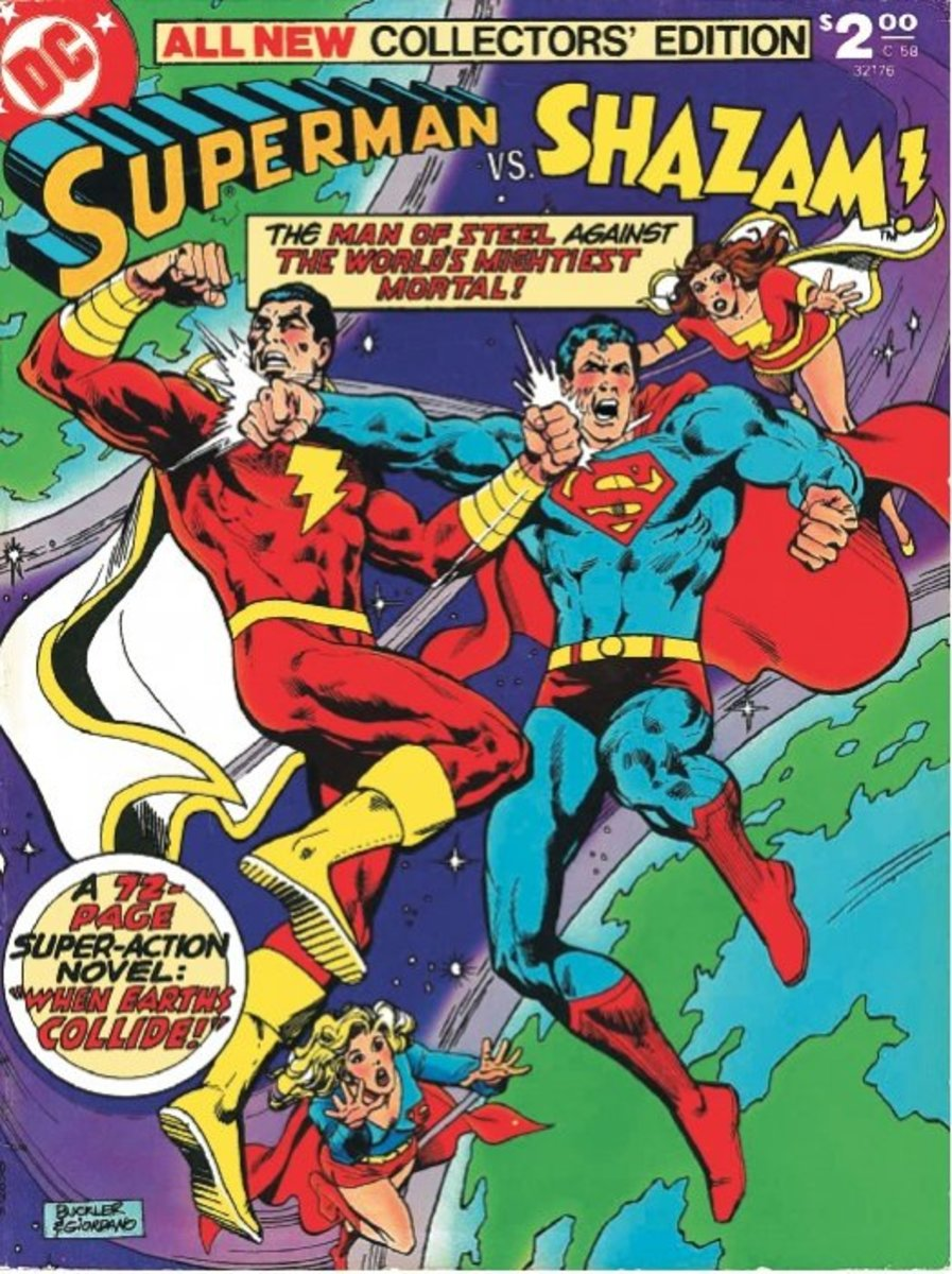This was something to make the eight-year-old in every fan boy squeal with joy.  Superman vs. Captain Marvel. A plot from a White Martian that employed a Quarmer and Black Adam.