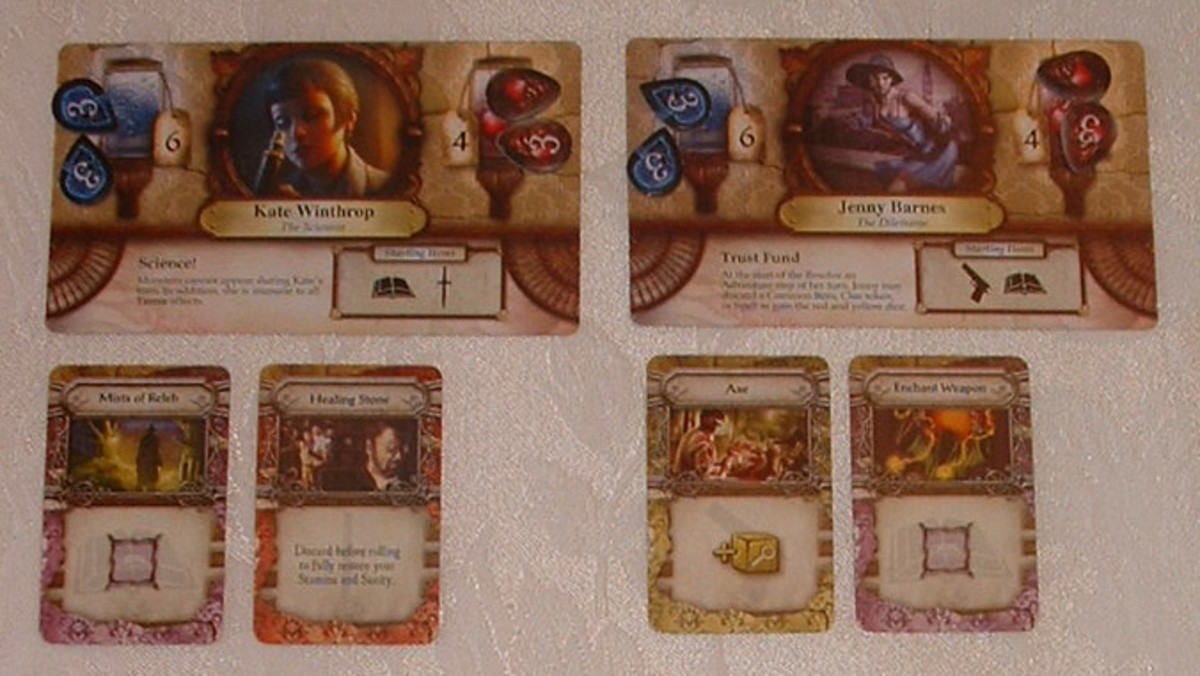 Cards from the game Elder Sign