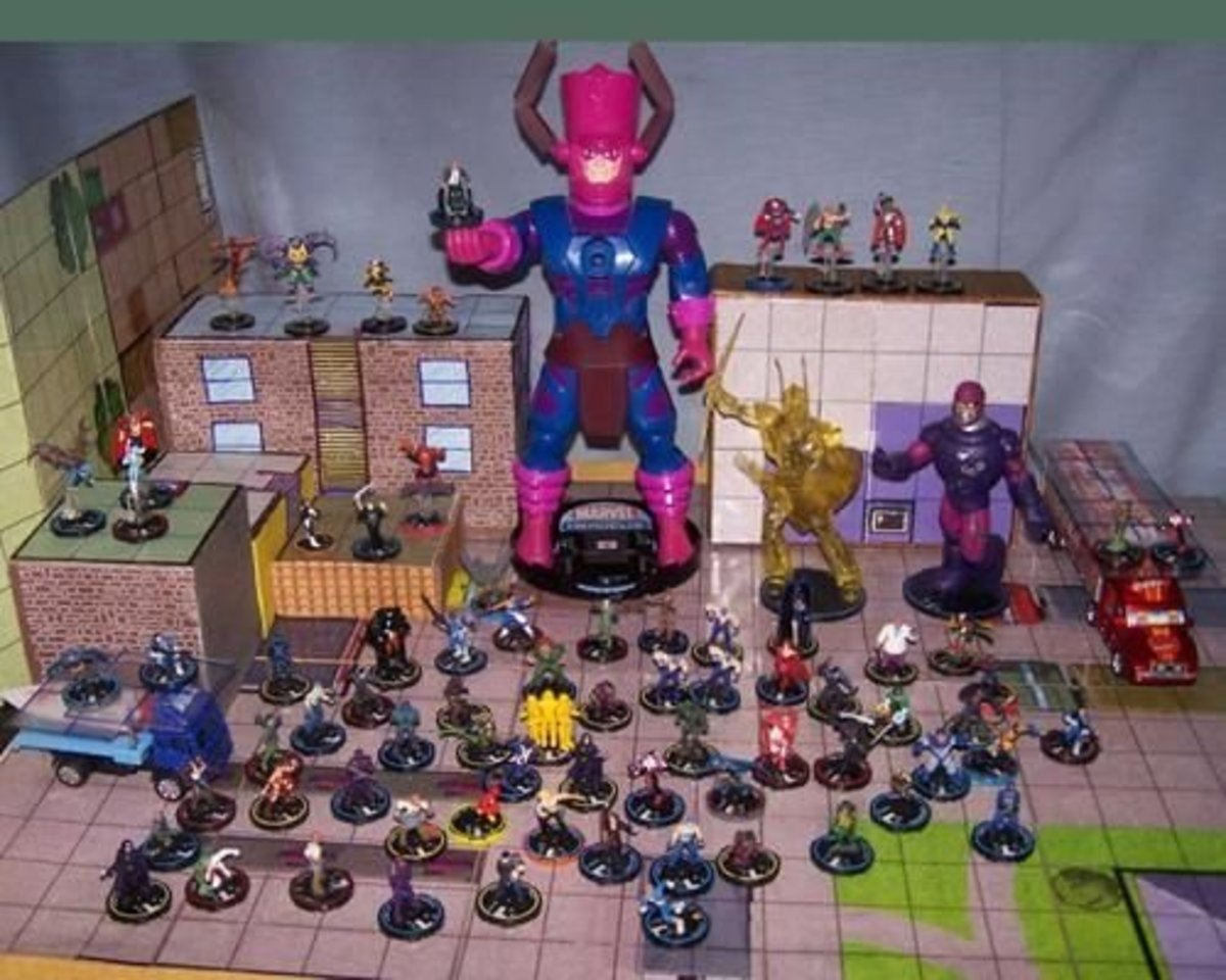 You can see here how big some Heroclix are.