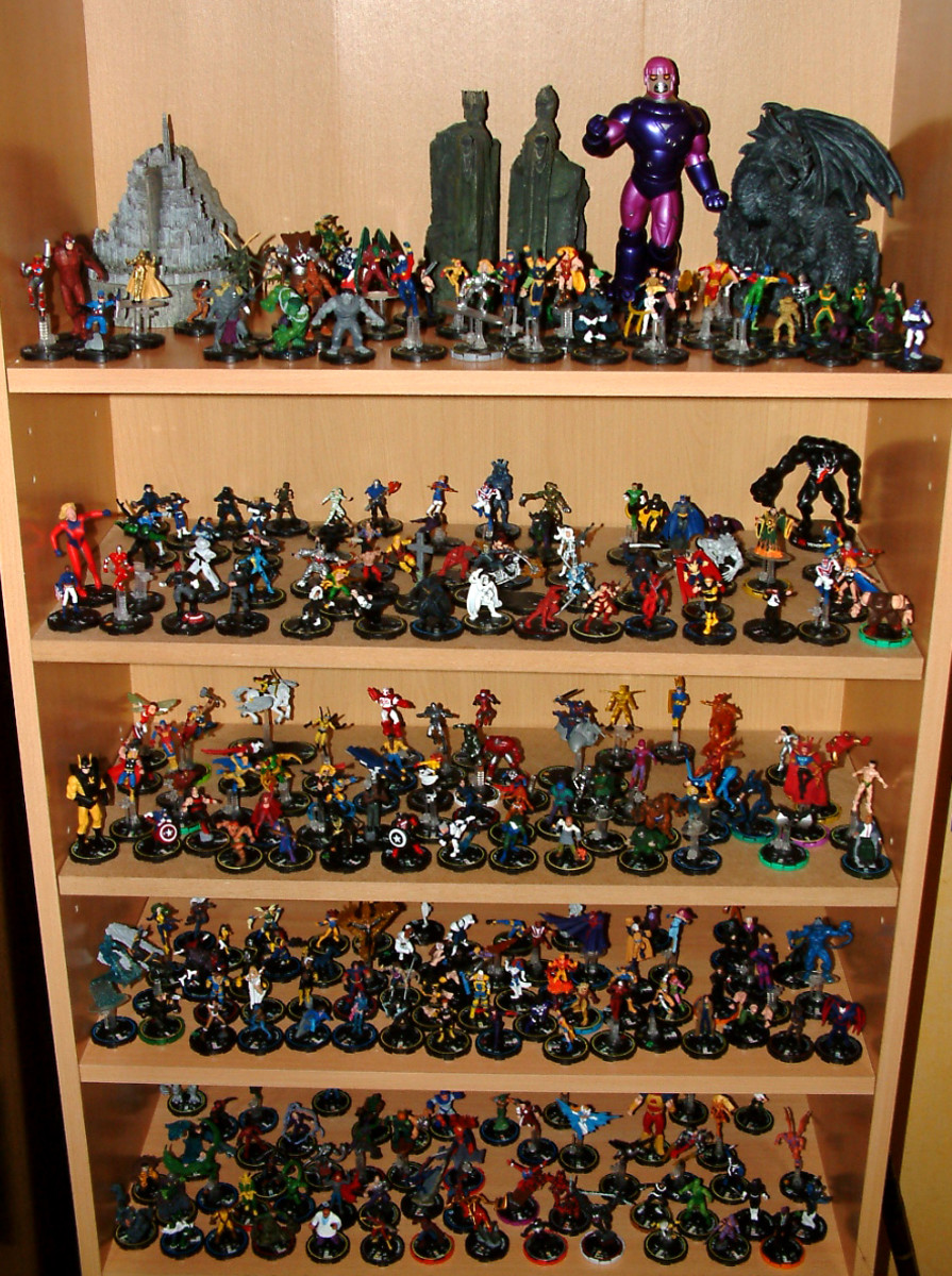 A huge collection of heroclix, they come in all shapes and sizes