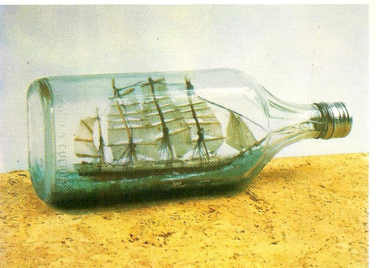 A ship in a bottle is a masterpiece.