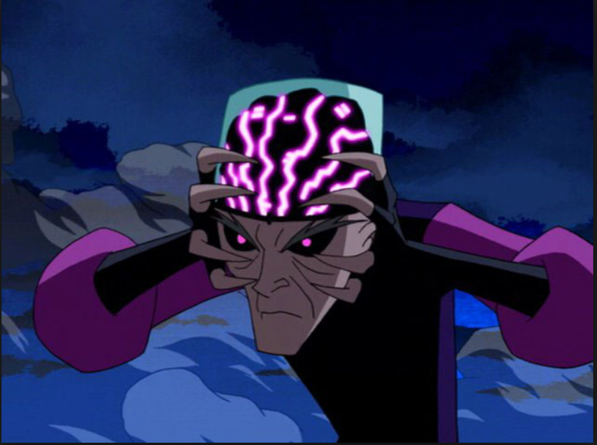 """""""Of course I'm evil; you can see my brain under this glass."""""""