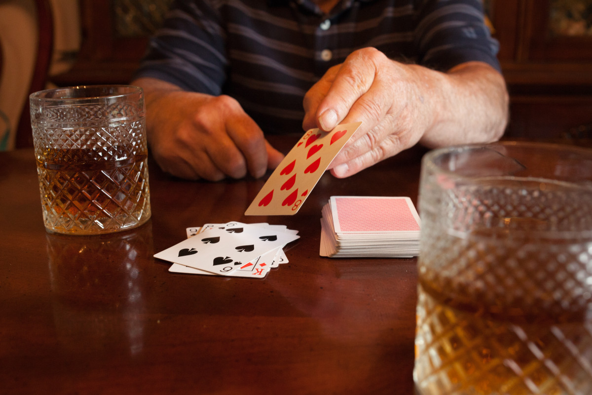 The dealer turns over a card from the top of the deck and the second player guesses whether the next card will be higher or lower.