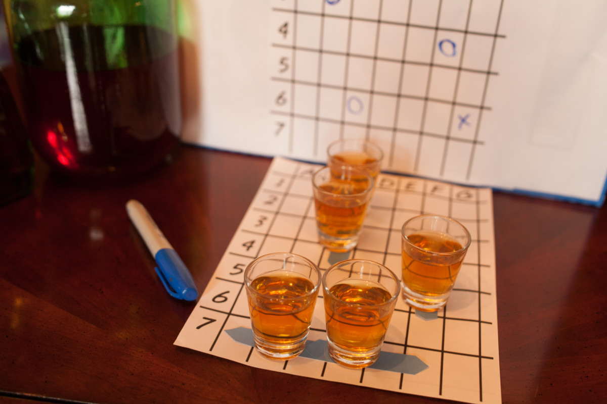 "Use shots as ""boats"" in a game of Battleship."