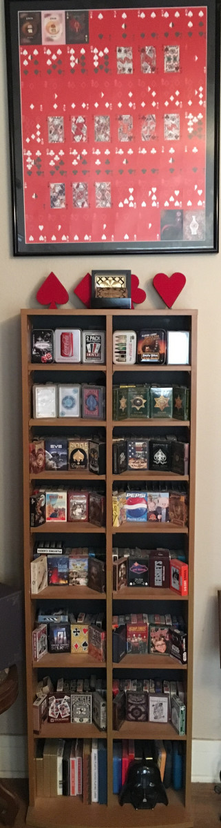 My playing card collection on display.