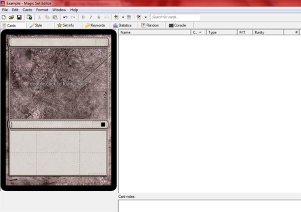 A Blank Magic Card in Magic Set Editor