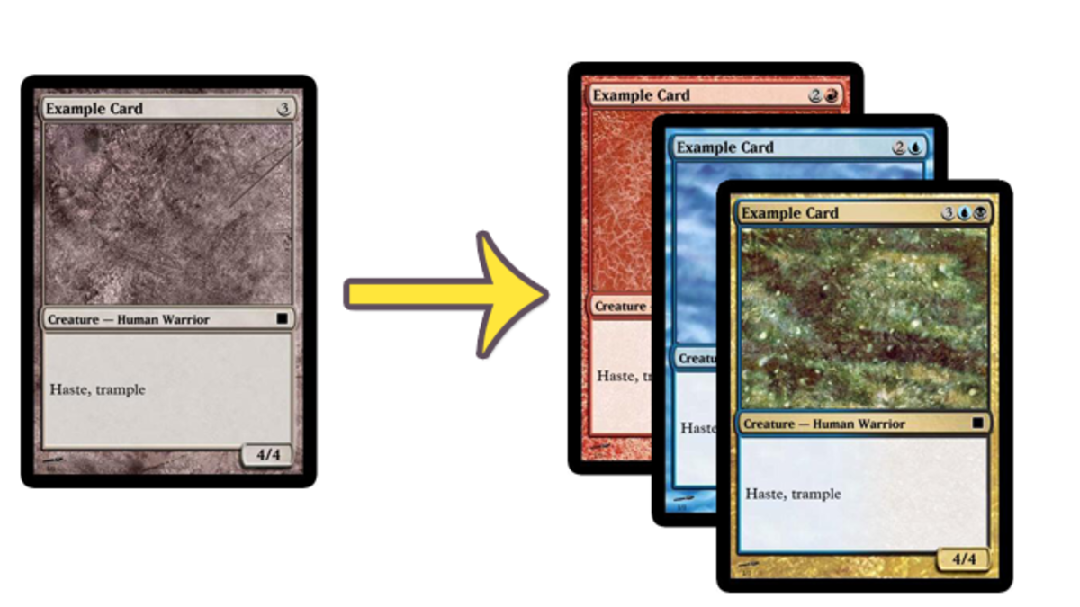 Example Cards in Magic Set Editor