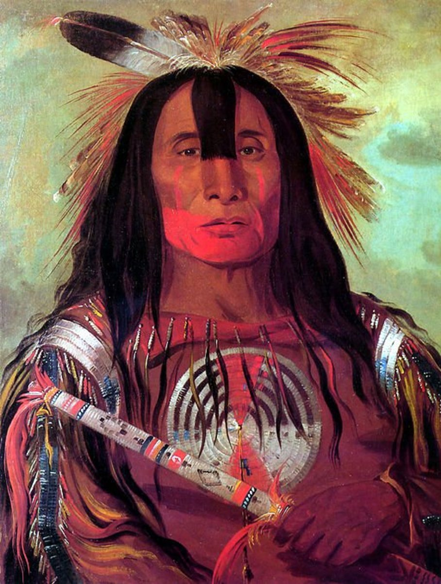 Native American with war paint