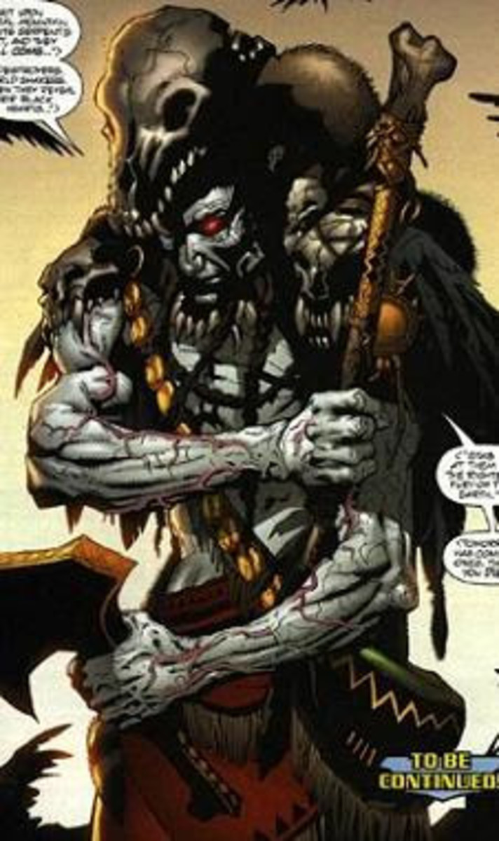 Manitou Raven, the comic book version of Apache Chief