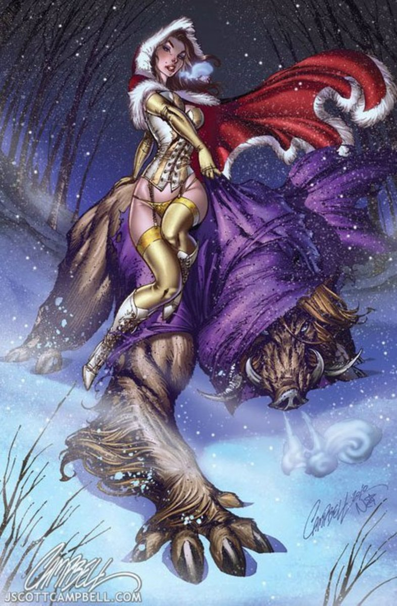 Beauty and the Beast by J Scott Campbell