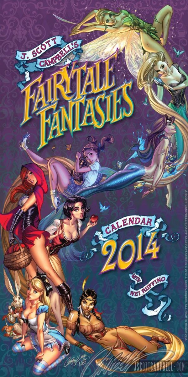 Fairytale Fantasies 2014 by J Scott Campbell