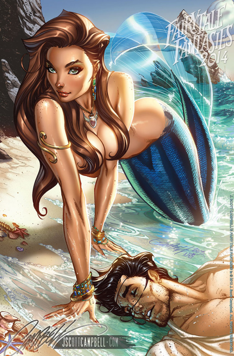 Mermaid  by J Scott Campbell