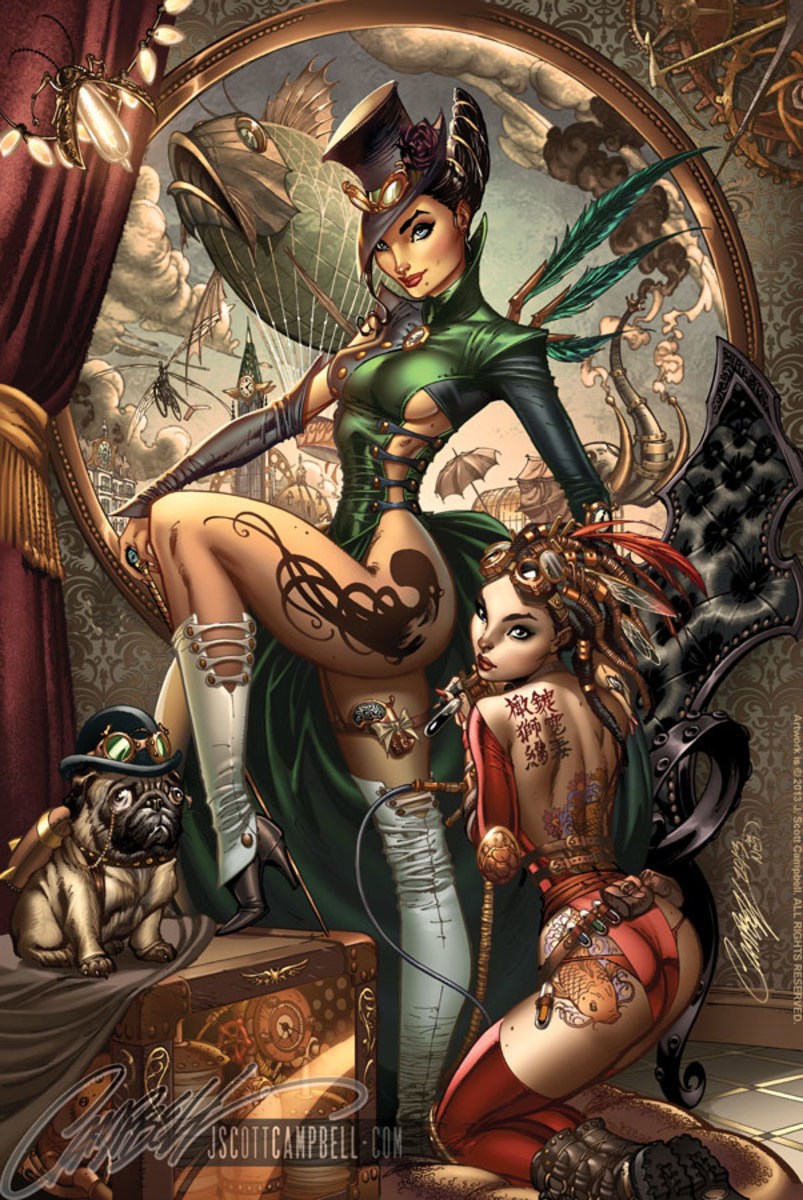 Steampunk witches of Oz  by J Scott Campbell
