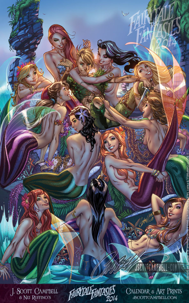 Mermaid Lagoon  by J Scott Campbell
