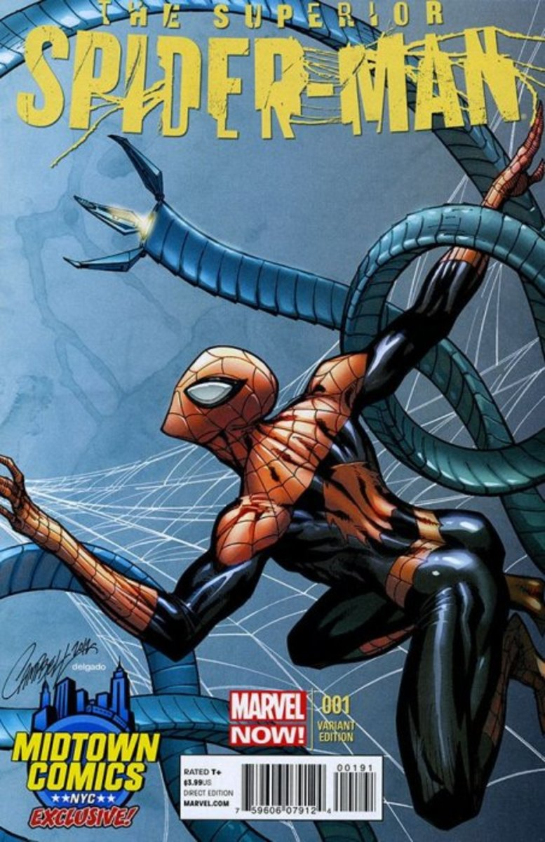 Spiderman variant Cover by J Scott Campbell
