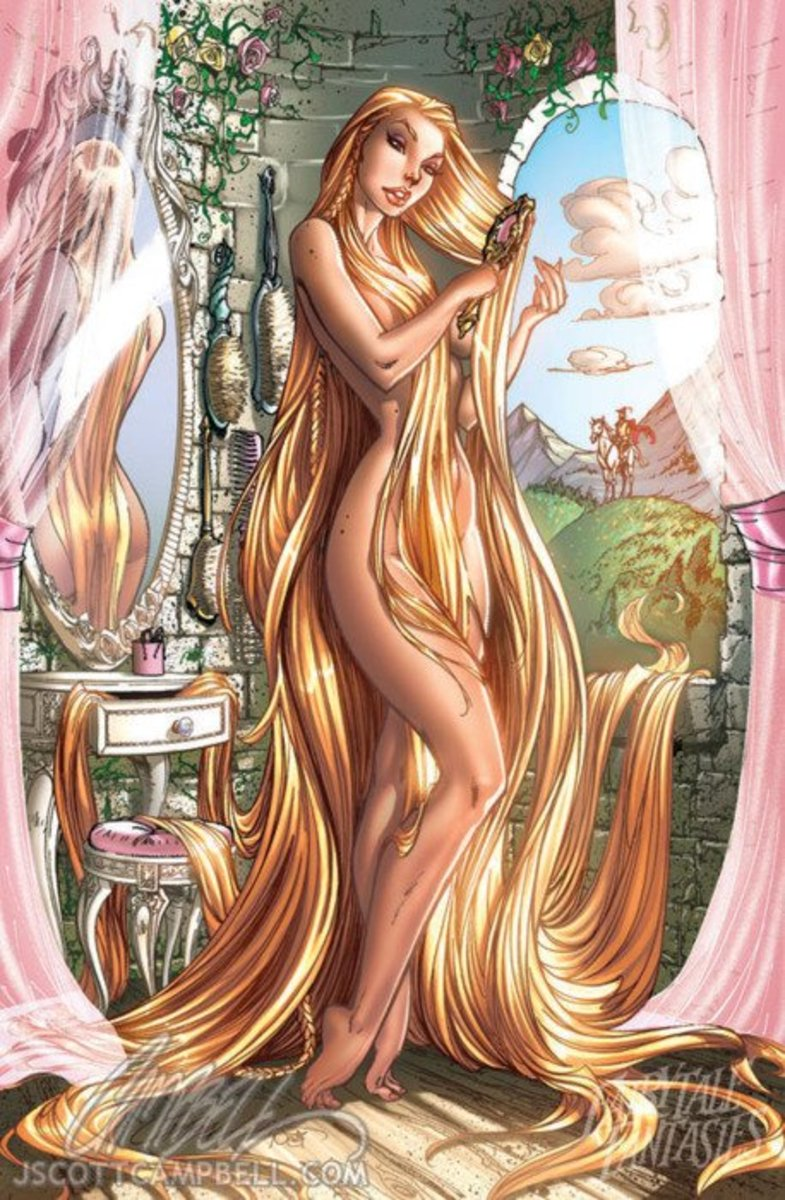 Rapunzel by J Scott Campbell