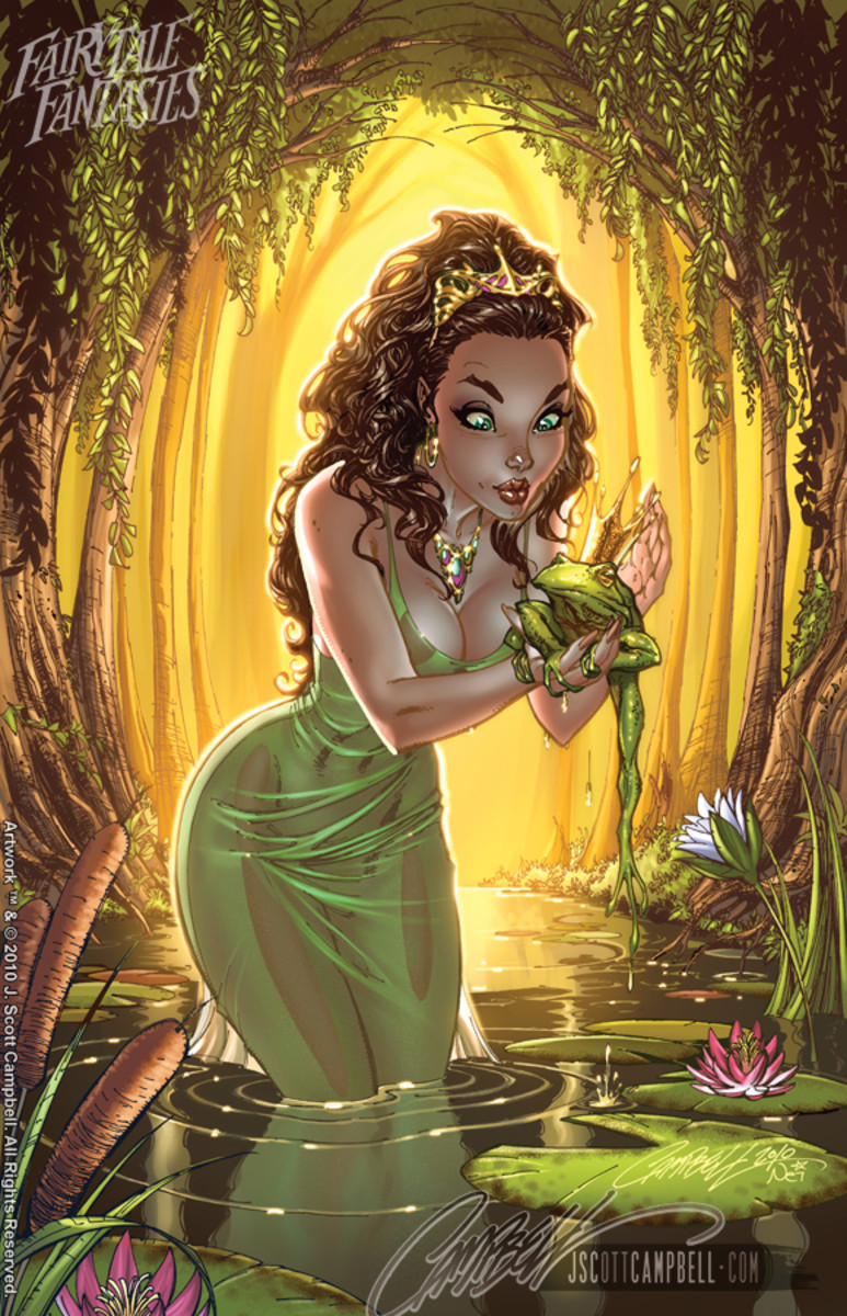 Princess and the Frog by J Scott Campbell
