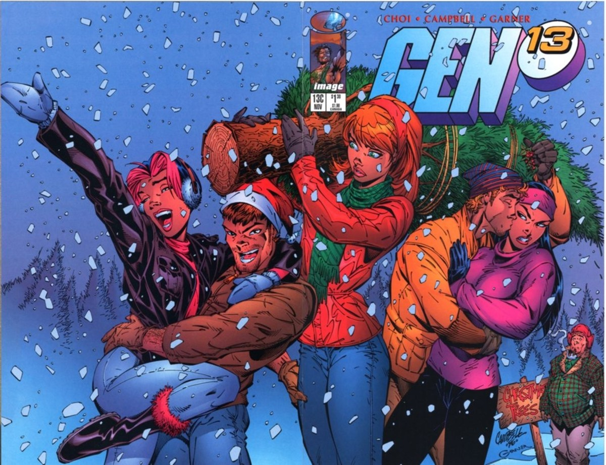 Gen 13 Christmas cover by J Scott Campbell