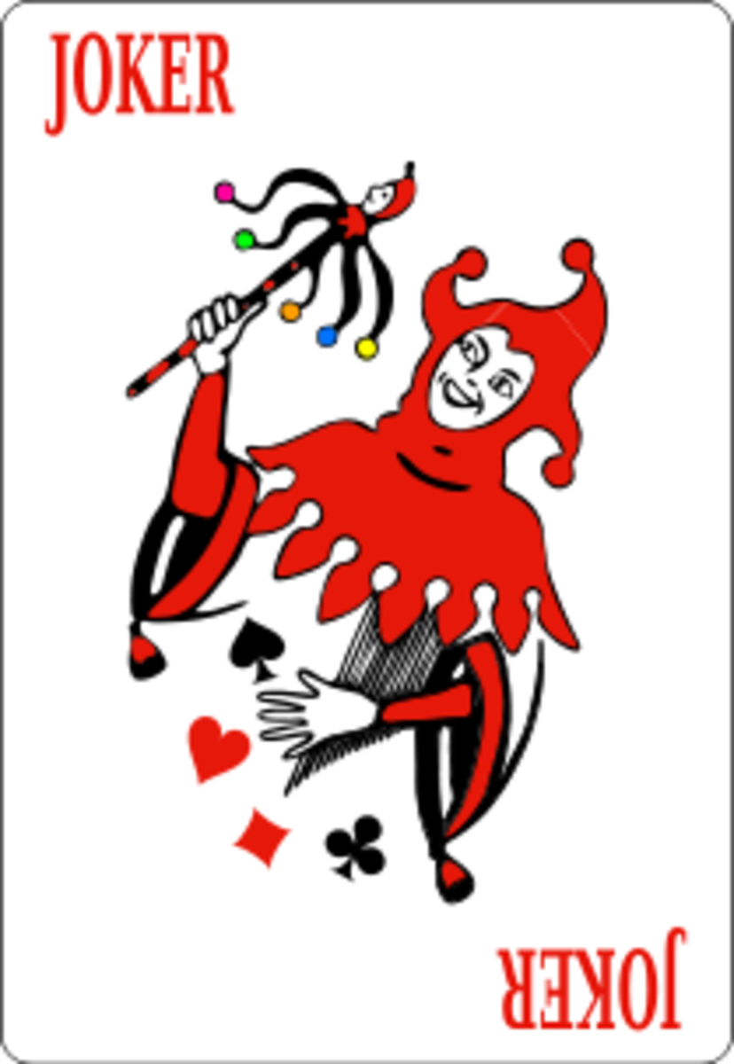 Jokers can be played at any time to force the next player to draw 4.  They can also be played on top of 2s or on another Joker to make the following player have to pick up even more cards. They can be used at any time.