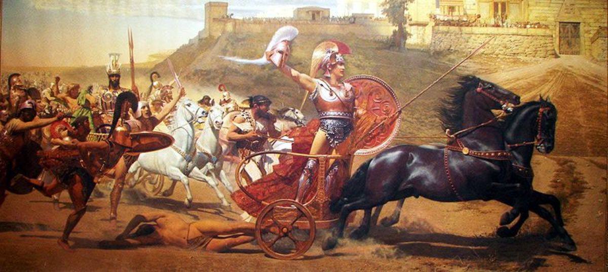 """Triumph of Achilles"" Painting by Franz Matsch 1892"