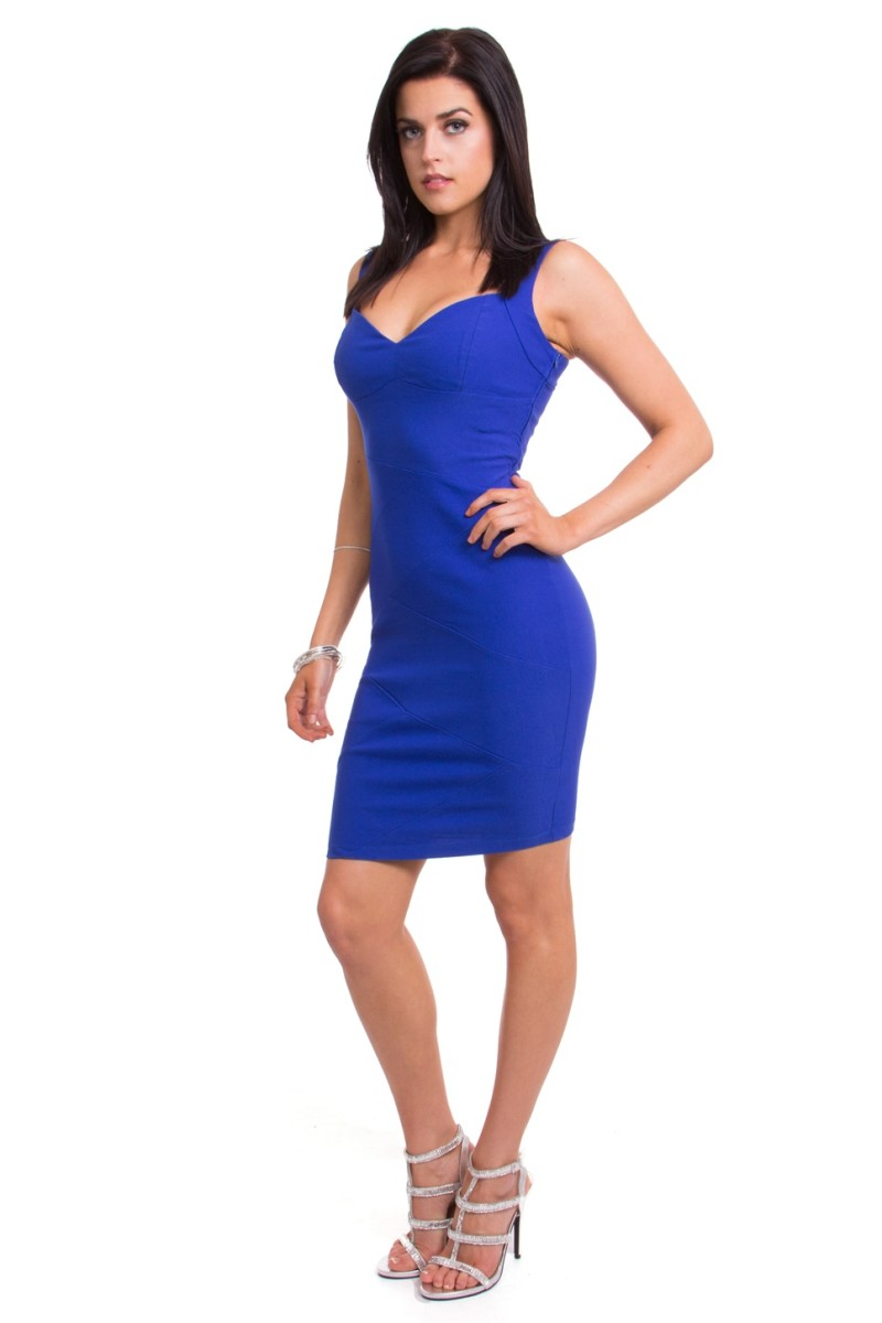 Blue dress that you can wear salsa dancing at a nightclub or studio