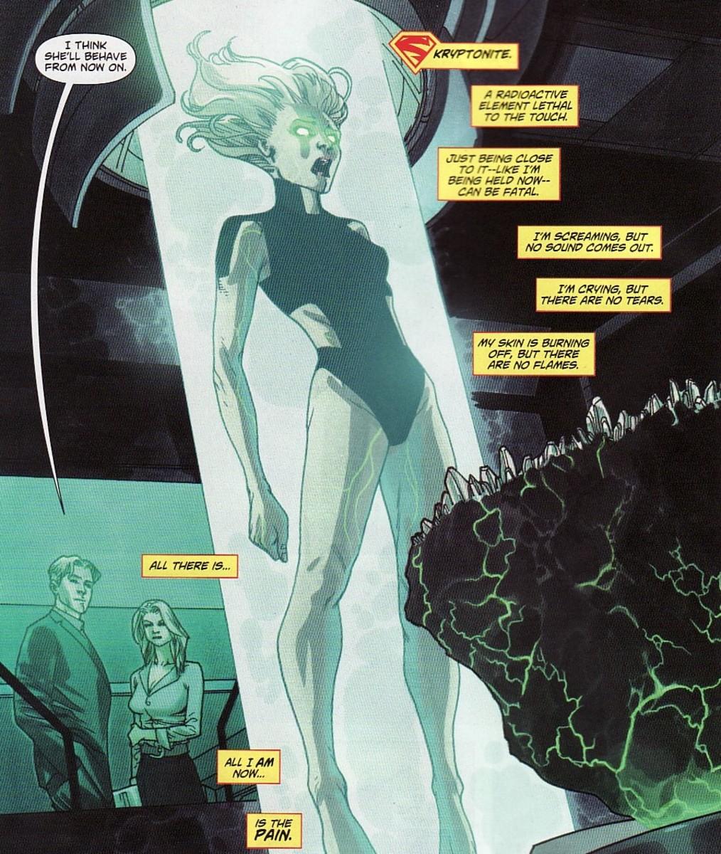 Supergirl exposed to Kryptonite